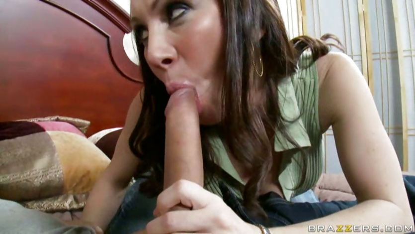 big boobed Rayveness is mouthfucked hard with this big dick