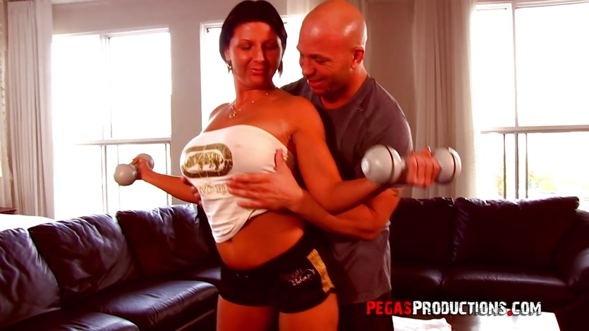 Big Titted Milf Training