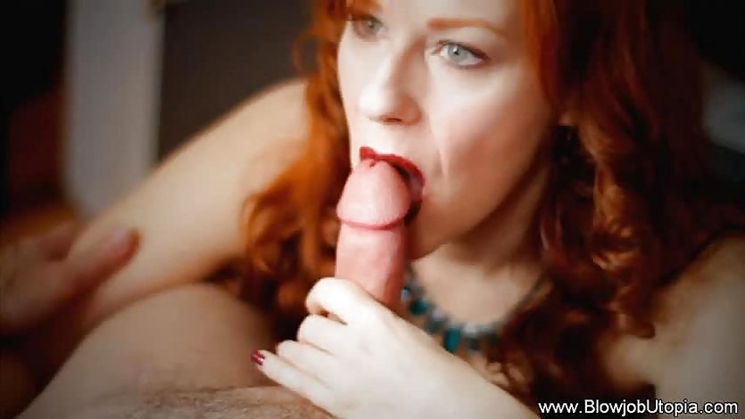Blowjob and a Handjob by Kinky Redhead