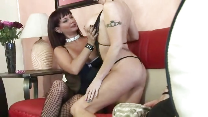 Brunette milf having lesbian sex with blonde milf