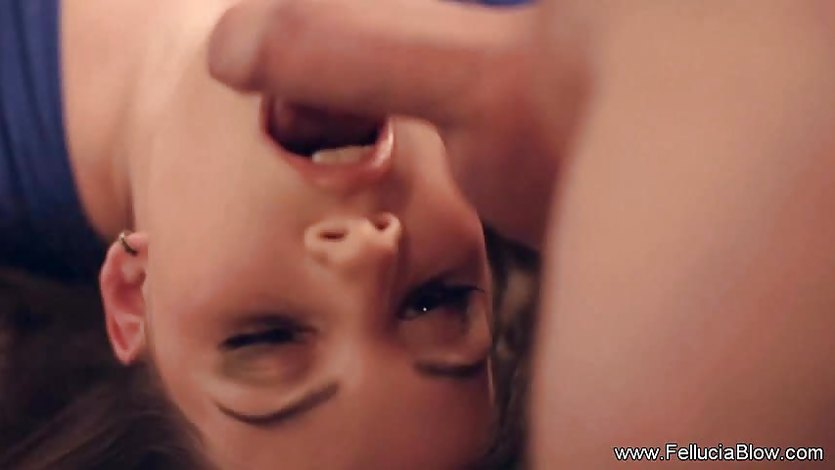Brunette Upside Down Blowjob