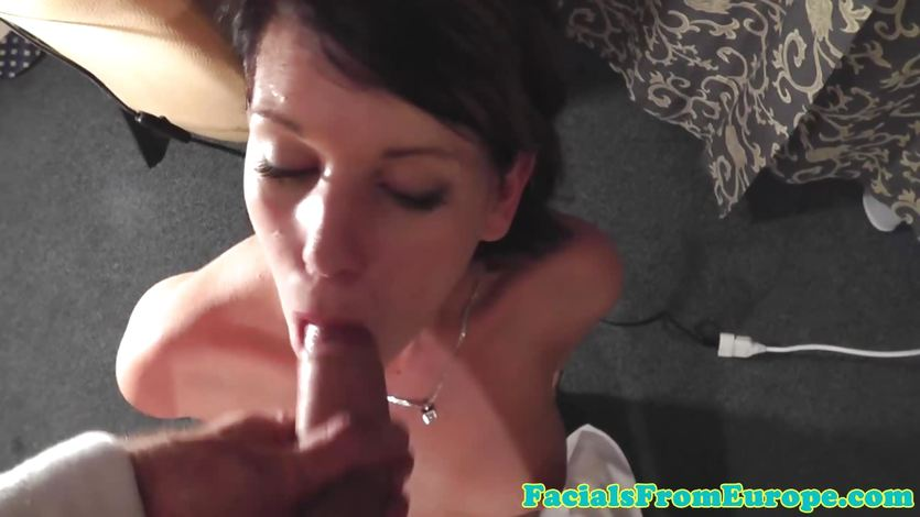 Cute cocksucking lover with a big dick