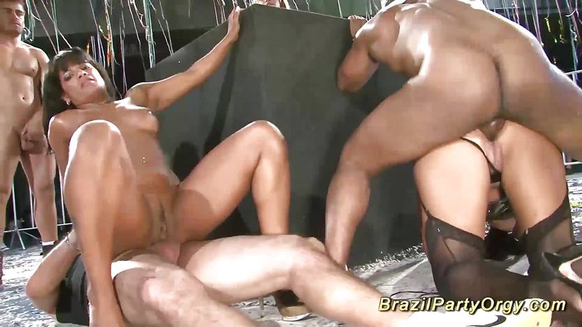 Brazilian samba groupsex party orgy