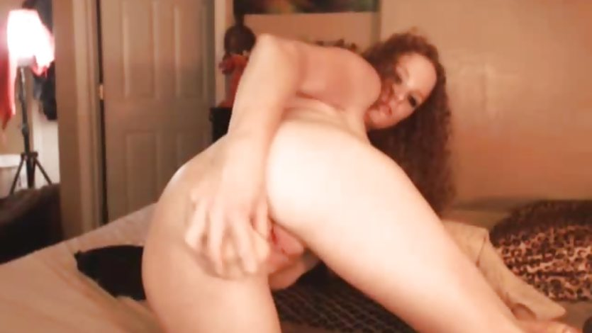 Busty Redhead Pole Dancer Squirts