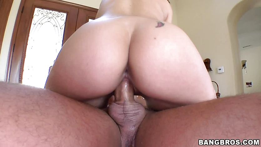 Charley Chase bouncing on a big dick