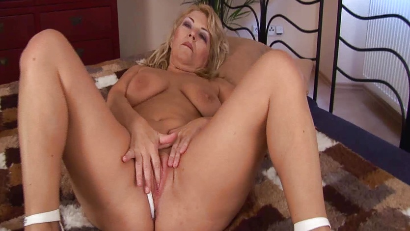 Chubby milf alone at home