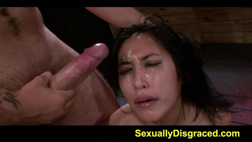 Deep throat and bondage makes babe wet