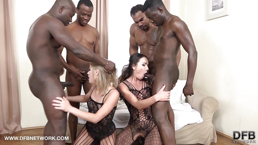 Double Anal Double Penetration Group fuck interracial