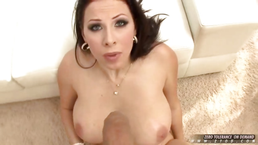 Gianna Michaels a busty slut enjoys a long dick deep in her throat