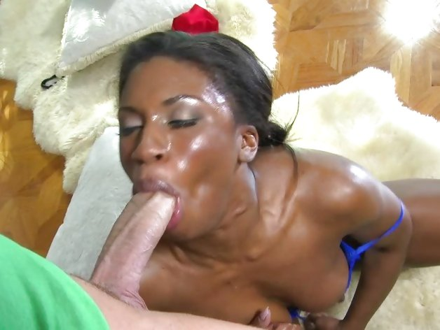 Interracial cock suck and fuck