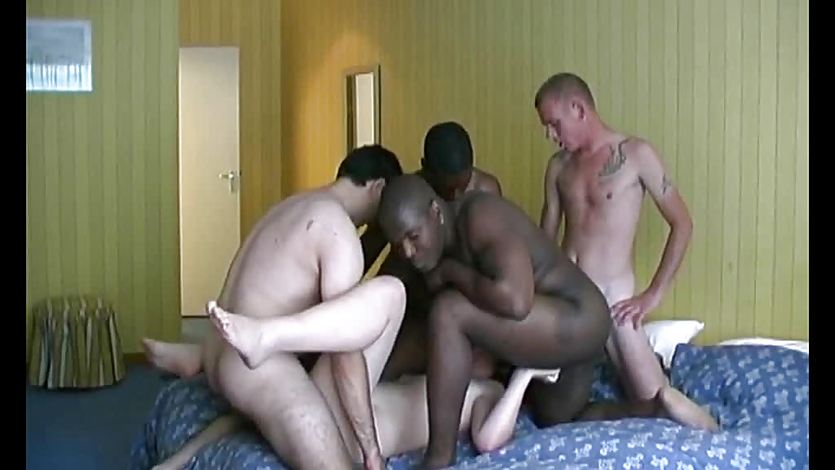 Interracial Gangbang For Dutch MILF