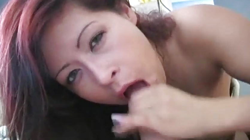 Latina MILF Stroking Blowjob