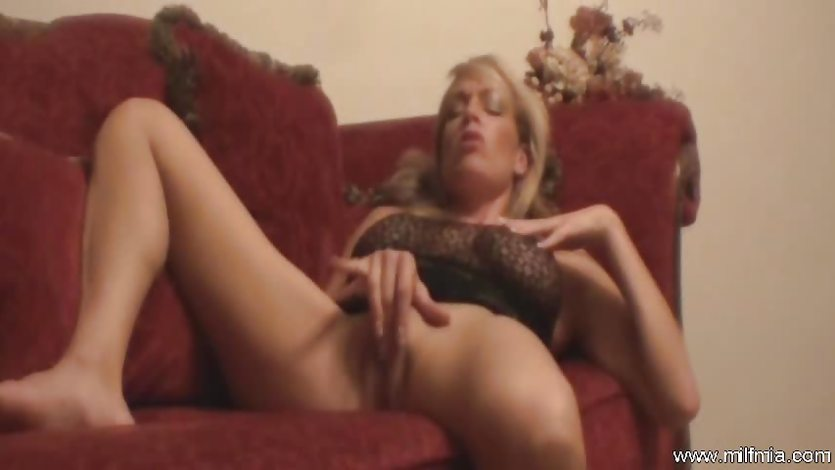 MILF Red Couch Fantastic
