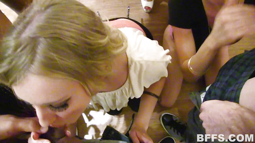 Night out ends in rampant groupsex