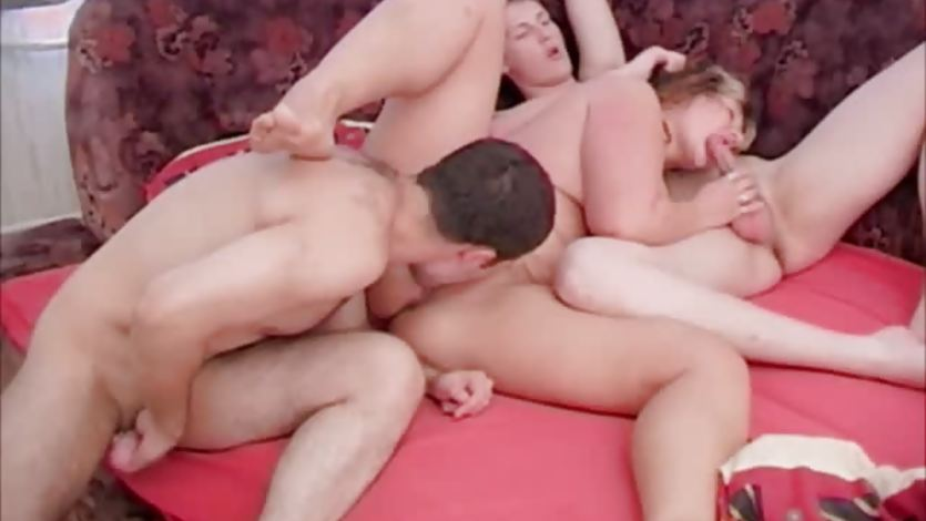 Plump mature threesome