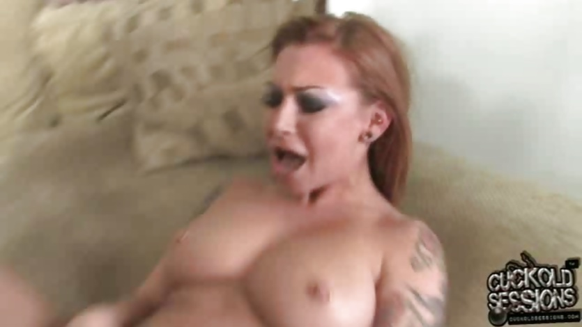 Scarlett Pain pumping hard with long black cock