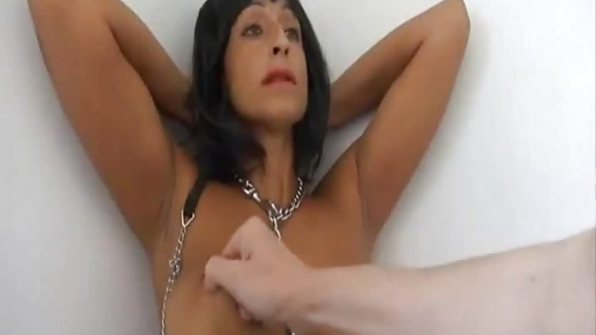 Submission milf tattoed at kitchen
