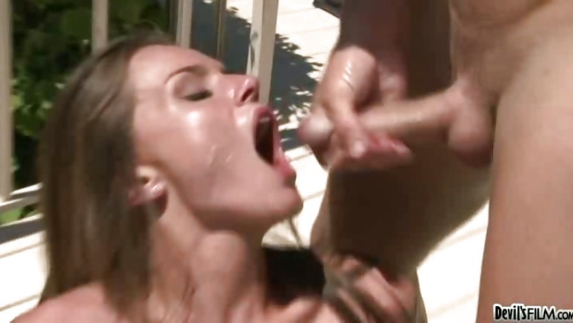 Tori Black spunk in the mouth with cumshot
