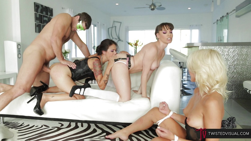 TwistedVisual.com – Rough Double Penetration Orgy