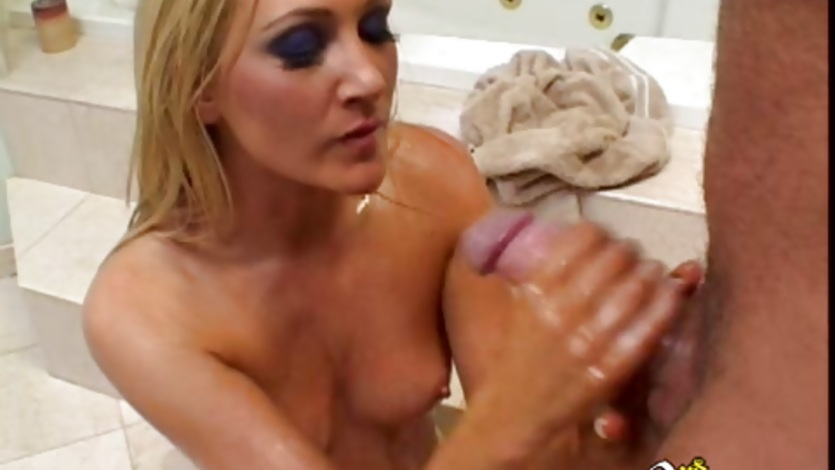 Alexis Malone gets a huge dick in her face as she deep throats it