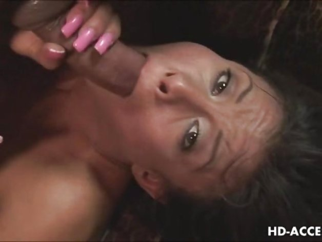Asian babe deep throats huge cock in stunning blow job