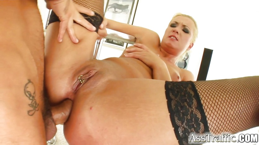 Big ass blonde squirts as she's fucked hard