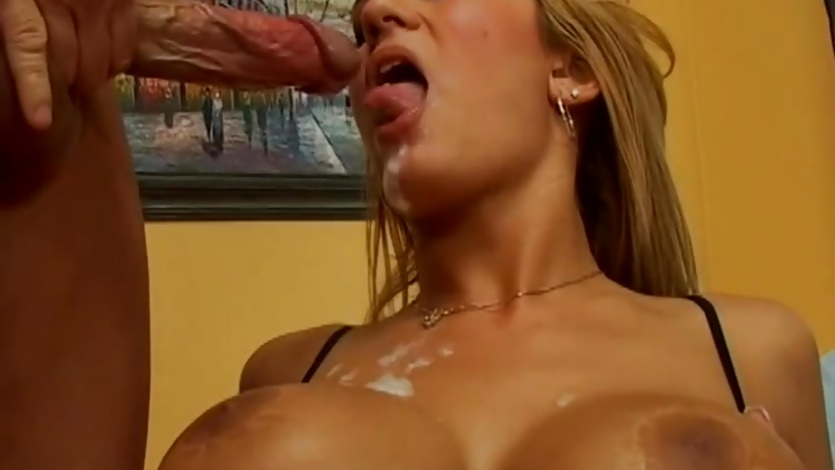 Big titted Trina Michaels gets her tits drenched in cum