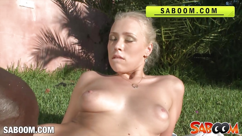Blonde Slut In Hot Interracial Action
