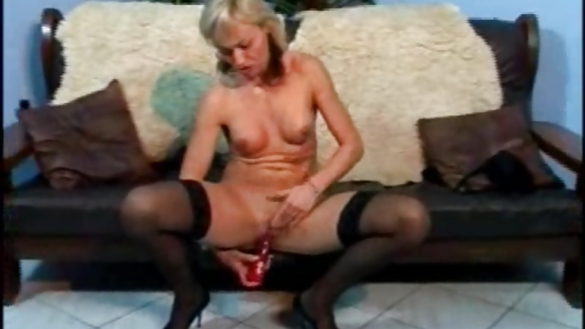 Blondes toying their MILF muffs