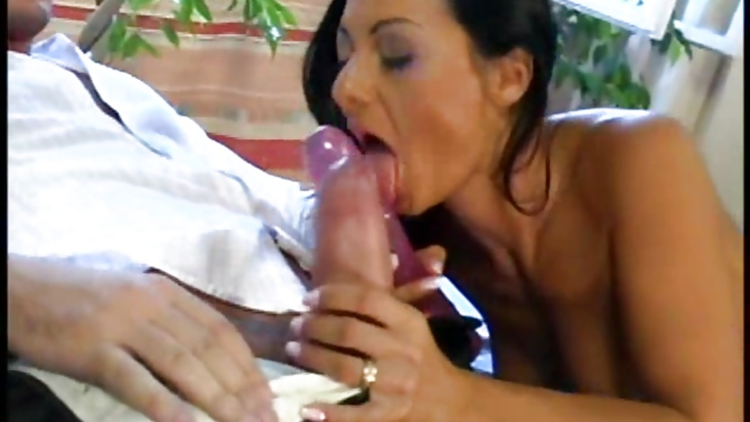 Cock lover Sandra Romain deep throats a huge hot rod