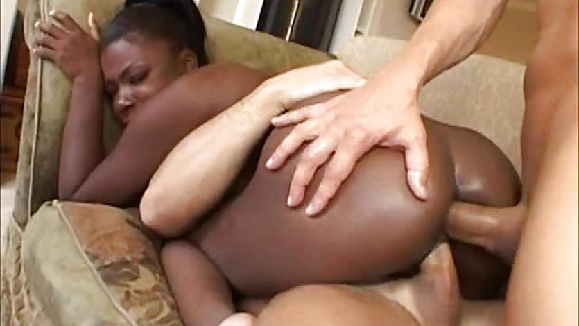 Ebony Babe Simone West Gets Double Penetration
