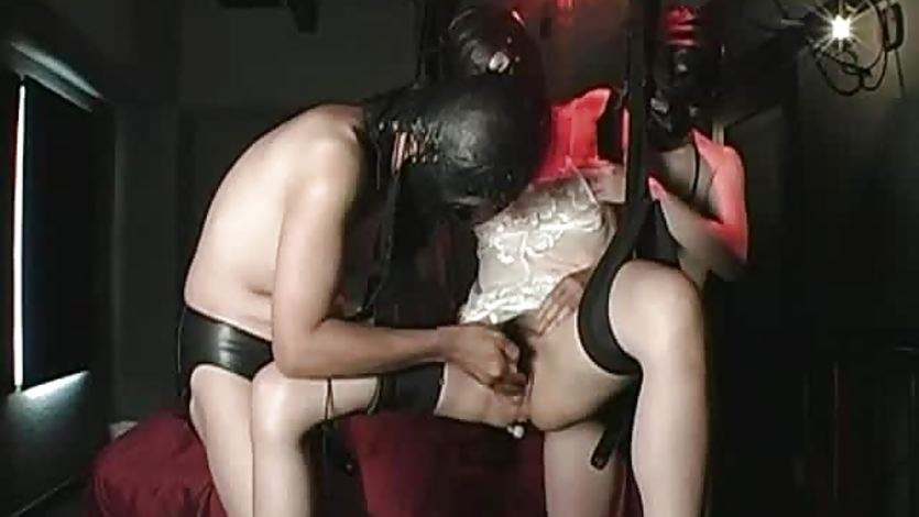Extreme Asian girl fisting and bizarre insertions