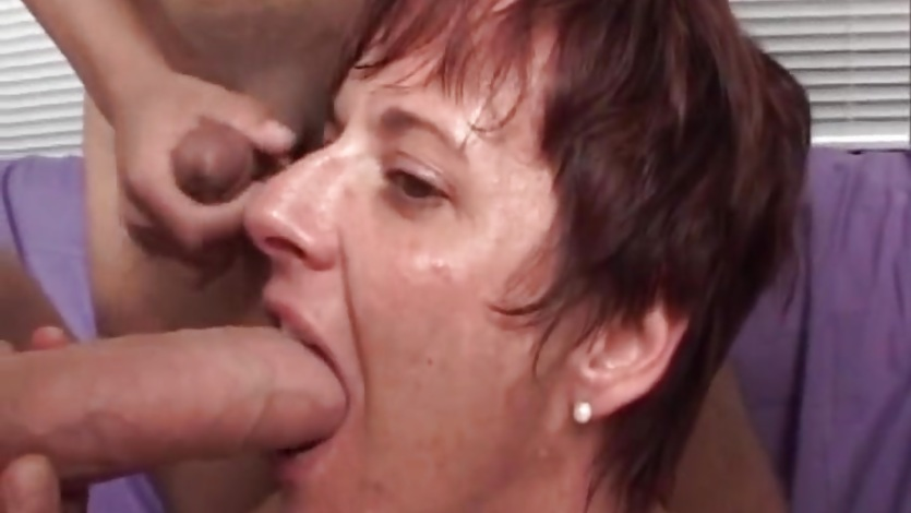 Hot mature woman fucks hardly