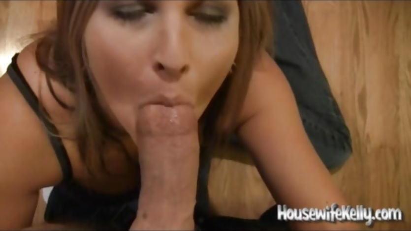 Housewife Blowjob in the Kitchen