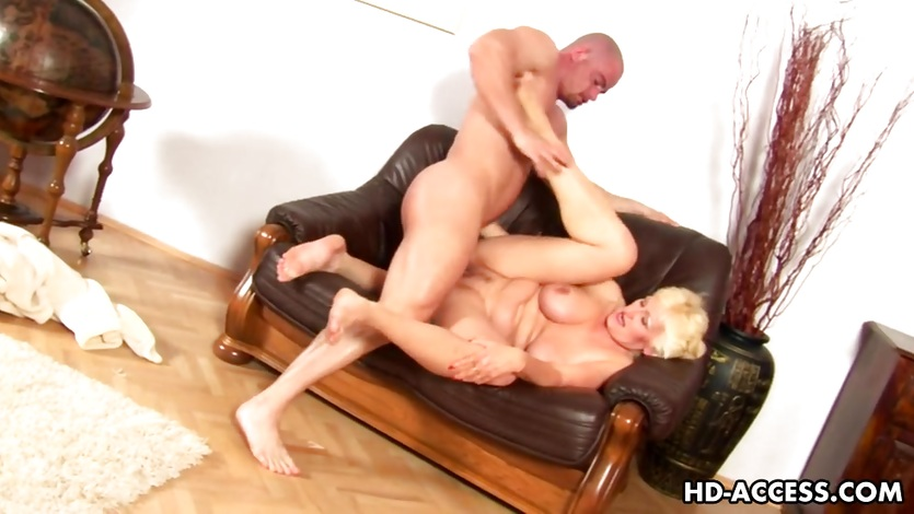 Mature blonde gets fisted and fucked