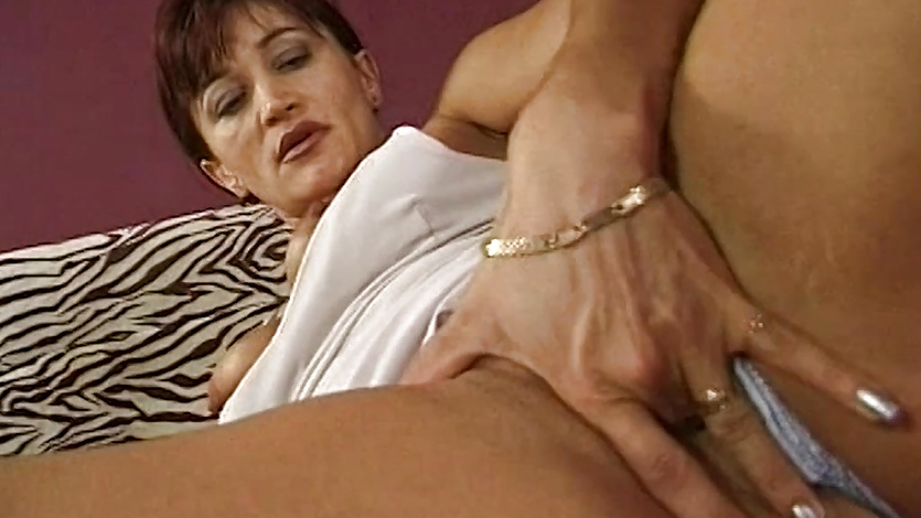 Mature Brunette Anal And Pussy Hammered