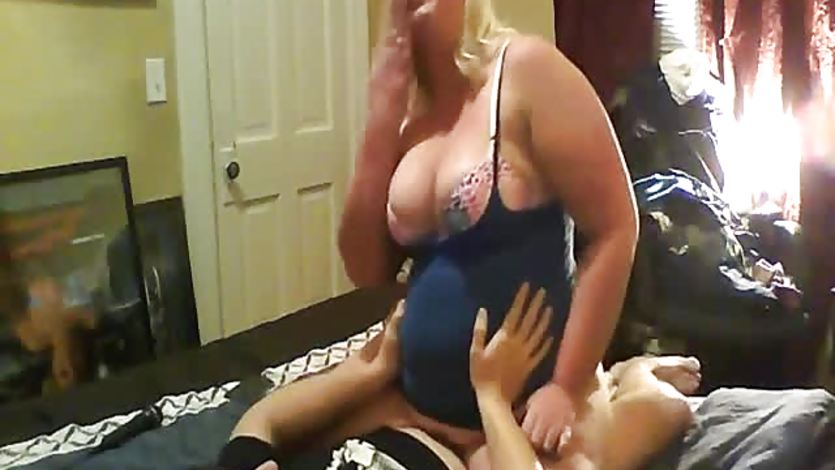 Mature chubby wife and dude