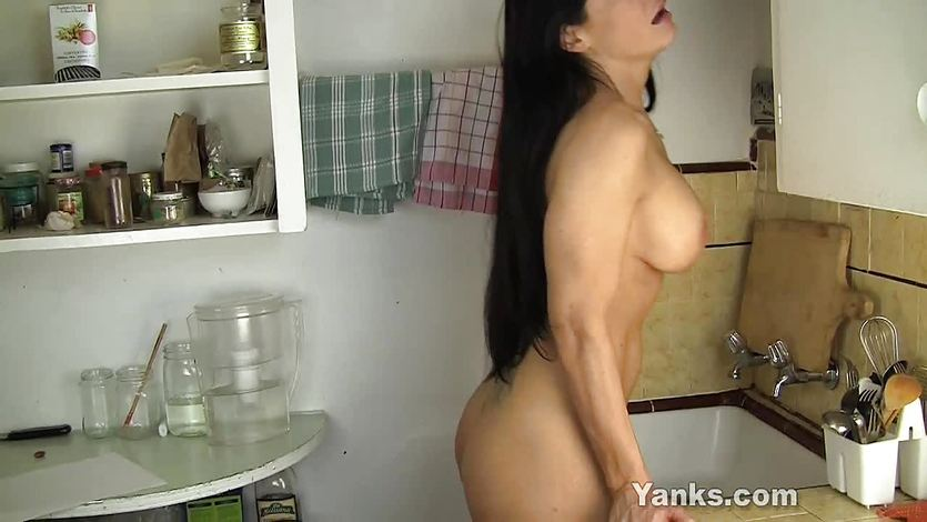 MILF Angela Humping The Sink