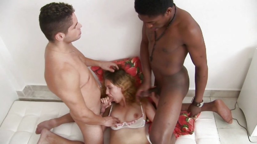 MILF's interracial dp and double facial