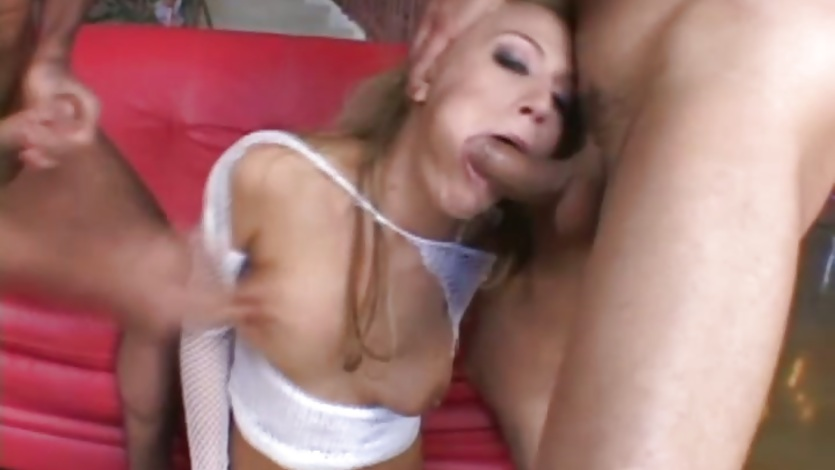 Nasty Holly Wellin deep throats a massive fuck stick