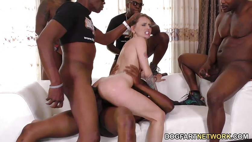 Natasha Starr Does Interracial Gangbang
