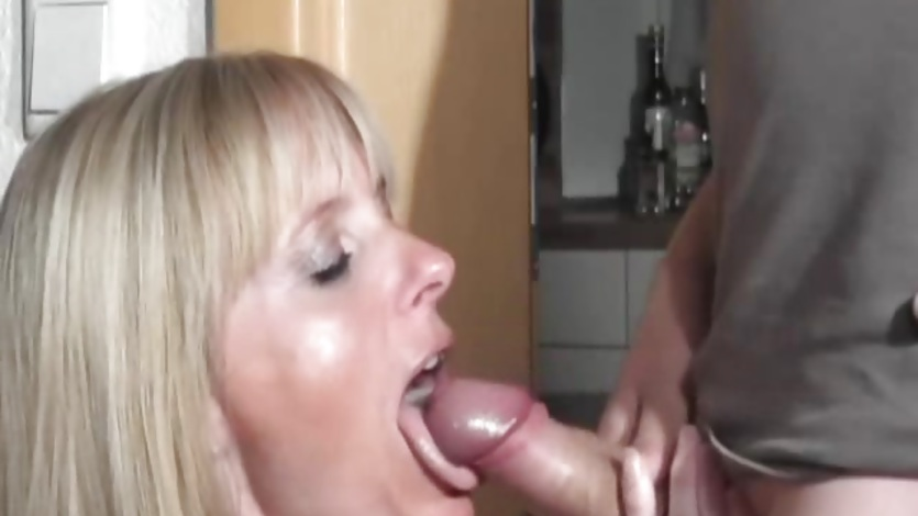 Naughty amateur Milf sucks and fucks with cumshot