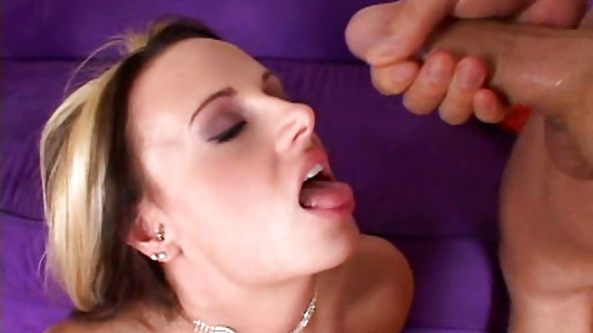 Nikki Hilton gets a double team cumshot facial