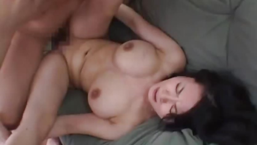 Rough couch fuck with busty mature
