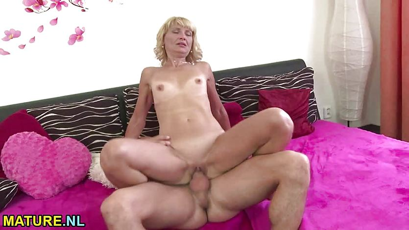 Slim mature gets drilled by a stud