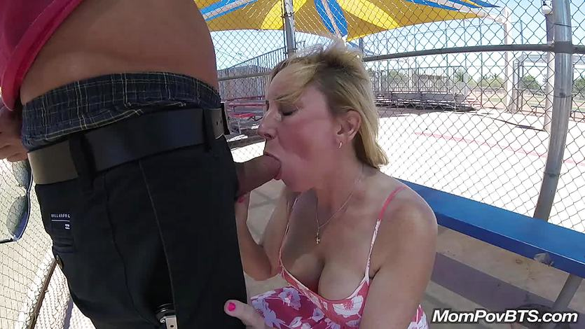 Tight body MILF takes it in the ass at public park