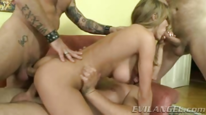 Alice Romain enjoys a rough double penetration