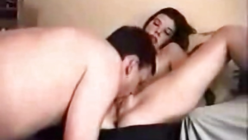 Amateur movie with sexy brunette