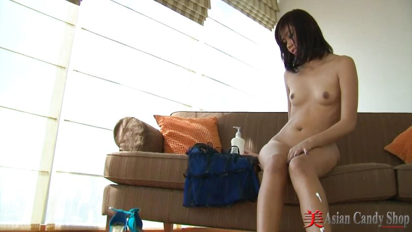 Asian striptease and foot play