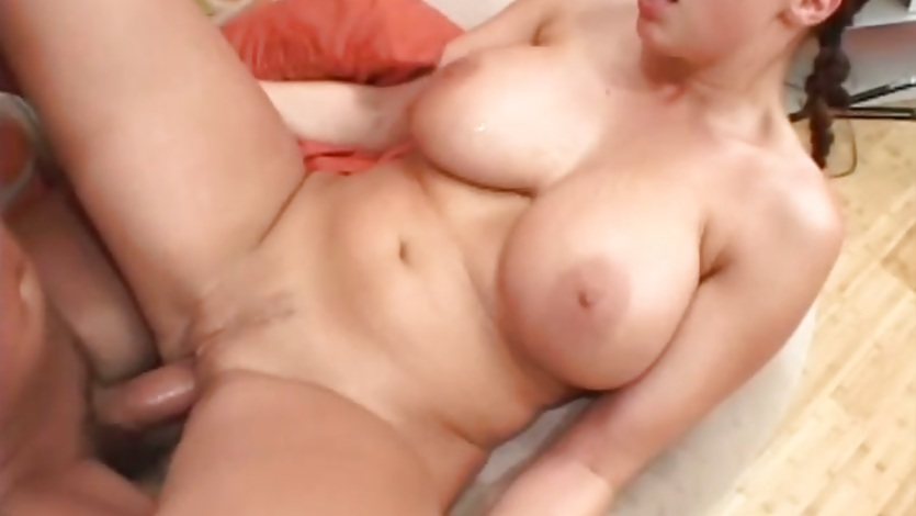 Big titted Gianna Michaels gets deep throated before getting a hard pussy pounding